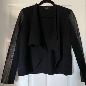 Ted Baker Wool and Leather cardigan jacket size S